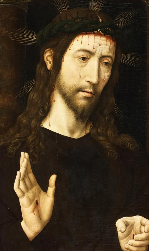 Domenico Ghirlandaio, Italian (active Florence), 1449-1494 -- The Man of Sorrows (Christ Crowned with Thorns)