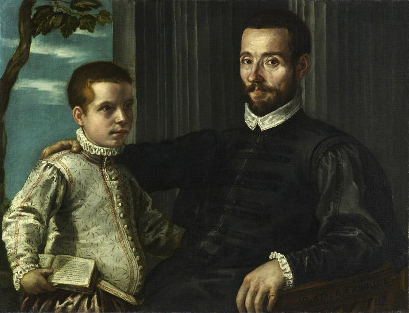 Domenico Robusti, gen. Tintoretto - Portrait of a Nobleman with his Son