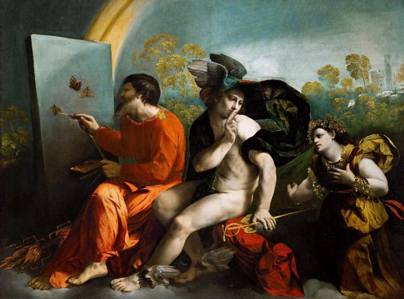 Dosso Dossi -- Jupiter, Mercury and Virtus or Virgo