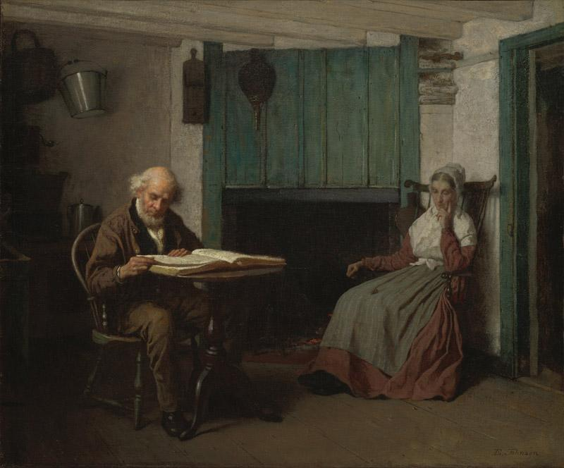 Eastman Johnson - Thy Word is a Lamp unto My Feet and a Light unto My Path, ca. 1878-1881