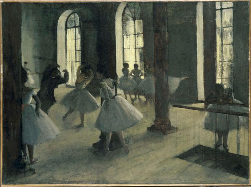Edgar Degas (1834-1917)-La Repetition au foyer de la danse