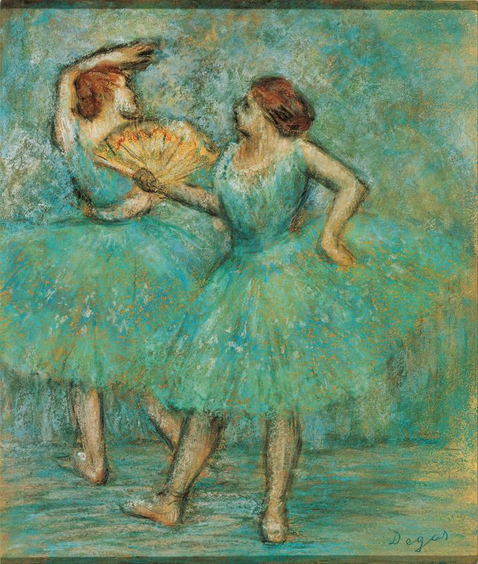 Edgar Degas (1834-1917)-Two Dancers, c
