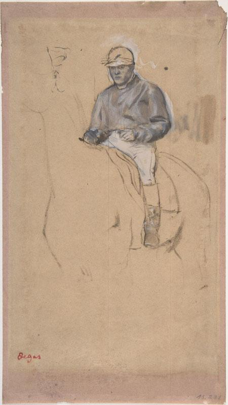Edgar Degas--A Jockey on His Horse
