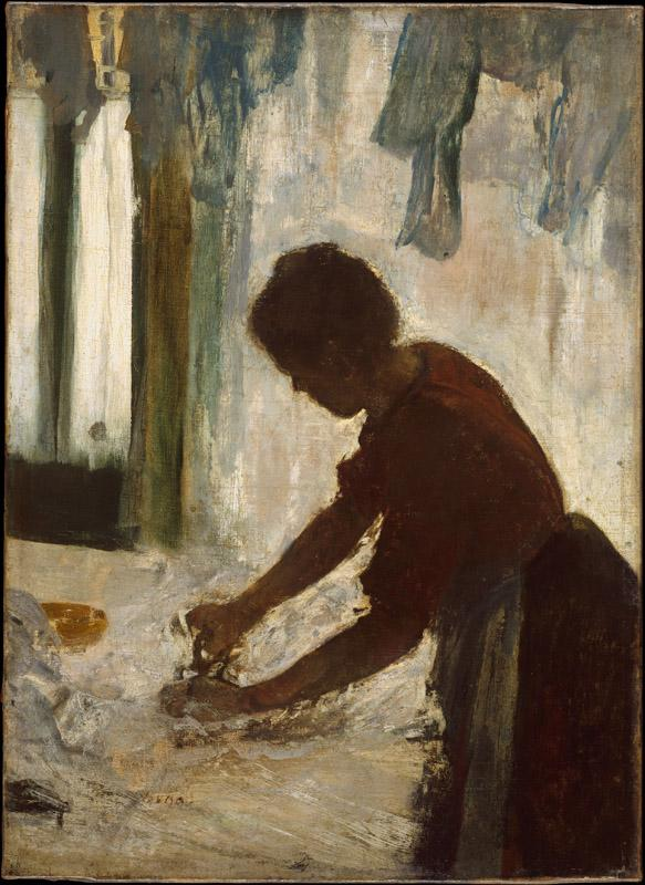 Edgar Degas--A Woman Ironing