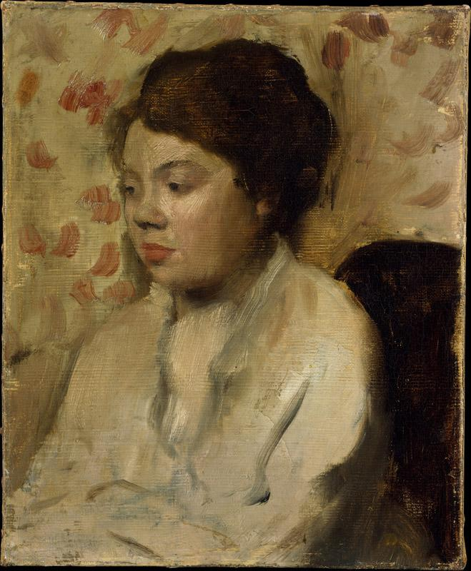Edgar Degas--Portrait of a Young Woman