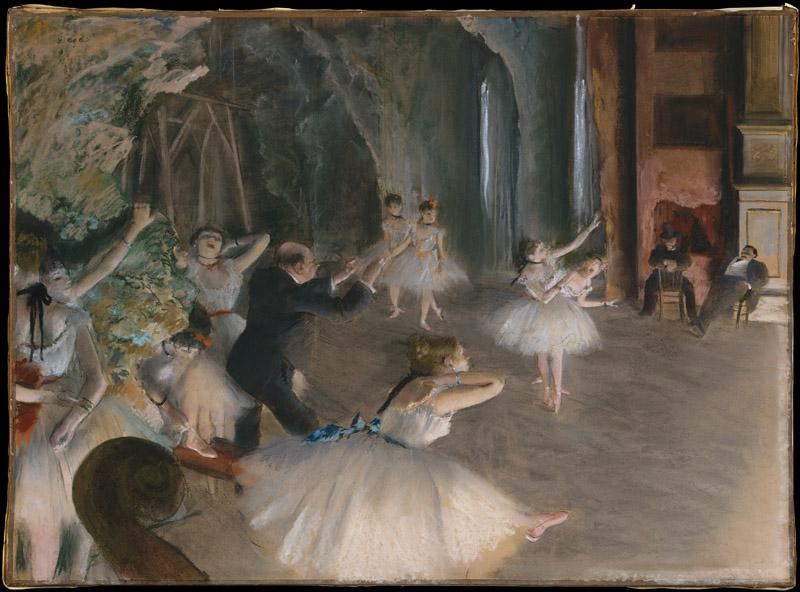 Edgar Degas--The Rehearsal Onstage