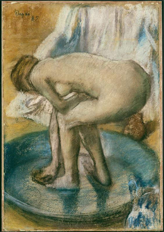 Edgar Degas--Woman Bathing in a Shallow Tub