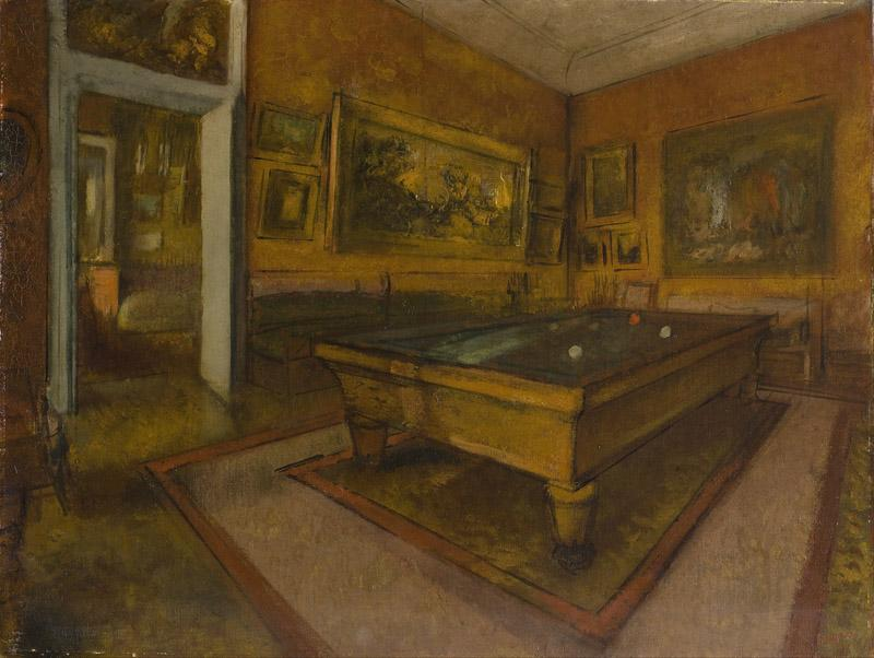 Edgar Degas - Billiard Room at Menil-Hubert