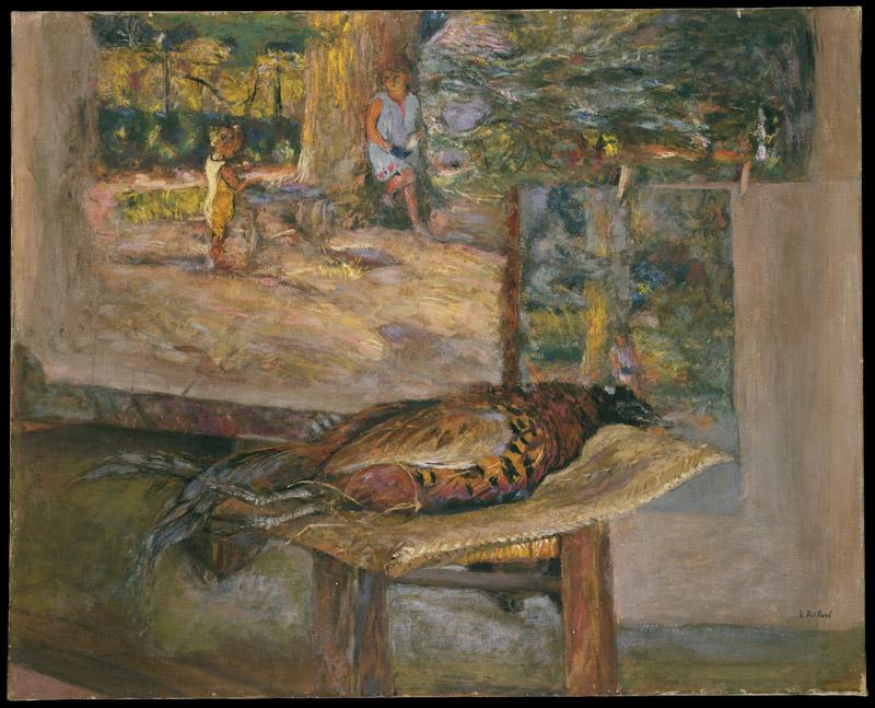 Edouard Vuillard--Interior with Paintings and a Pheasant