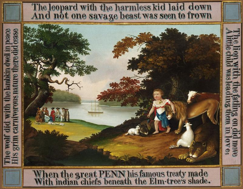 Edward Hicks, American, 1780-1849 -- The Peaceable Kingdom