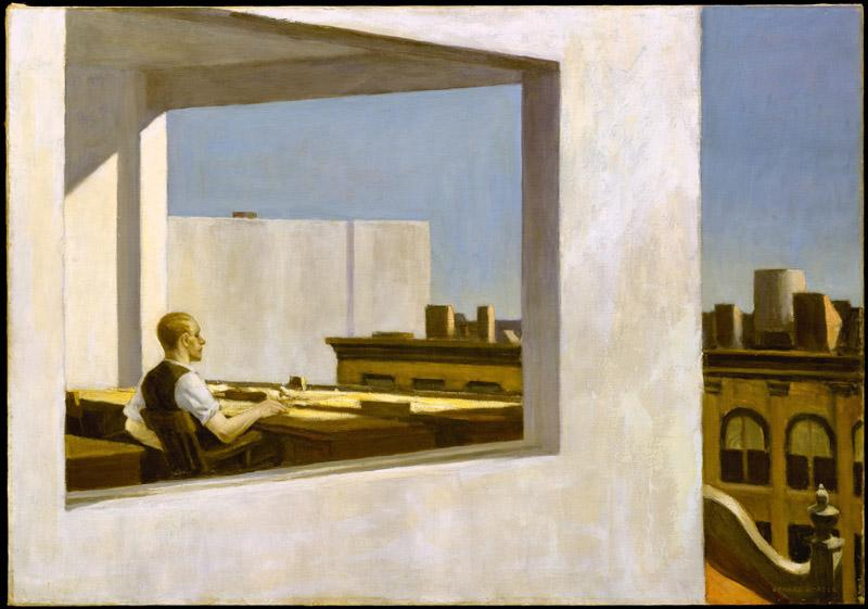 Edward Hopper--Office in a Small City