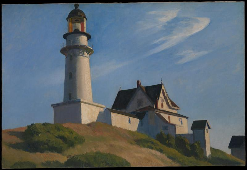 Edward Hopper--The Lighthouse at Two Lights