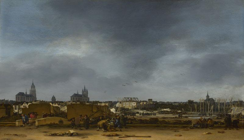 Egbert van der Poel - A View of Delft after the Explosion of 1654