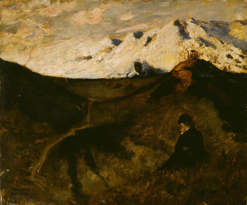 Eilif Peterssen - Mountains near Innsbruck