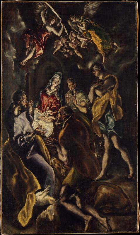 El Greco--The Adoration of the Shepherds (2)