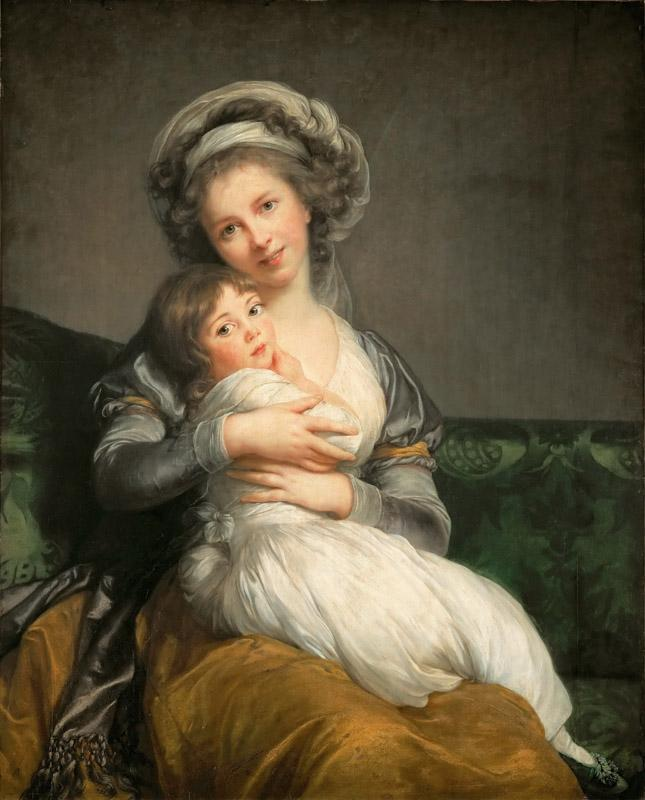 Elisabeth Louise Vigee-LeBrun-- Madame Vigee-LeBrun and her daughter