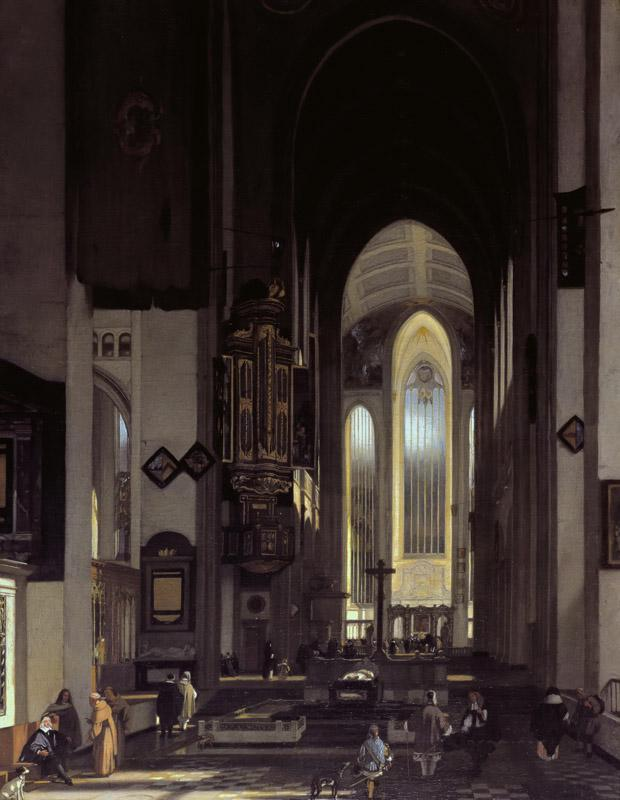 Emanuel de Witte - Interior of an Imaginary Catholic Church