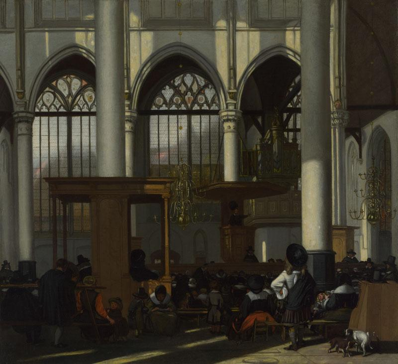 Emanuel de Witte - The Interior of the Oude Kerk, Amsterdam II