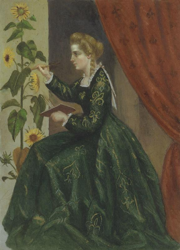 Emilia Francis (nee Strong), Lady Dilke by Laura Capel Lofft (afterwards Lady Trevelyan)
