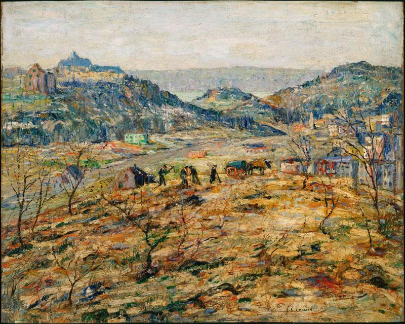Ernest Lawson (1873-1939)-City Suburbs