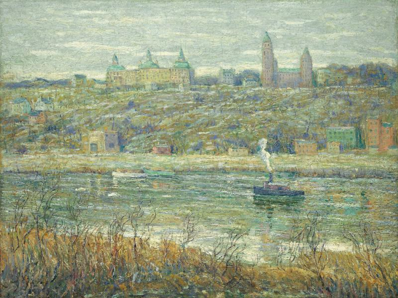 Ernest Lawson - On the Harlem, ca. 1910