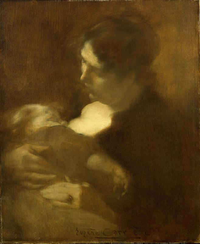 Eugene Carriere - Motherhood, 1880s