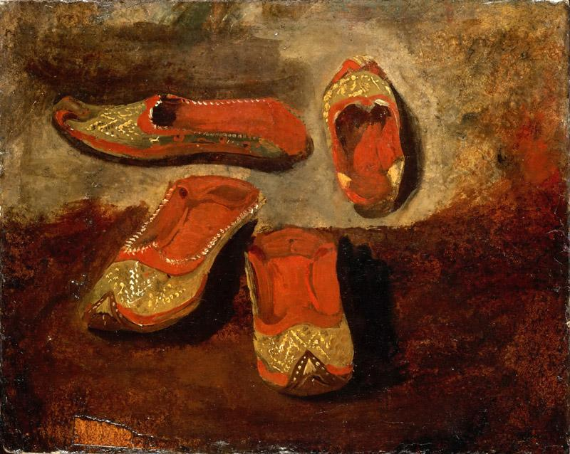 Eugene Delacroix -- Study of babouches