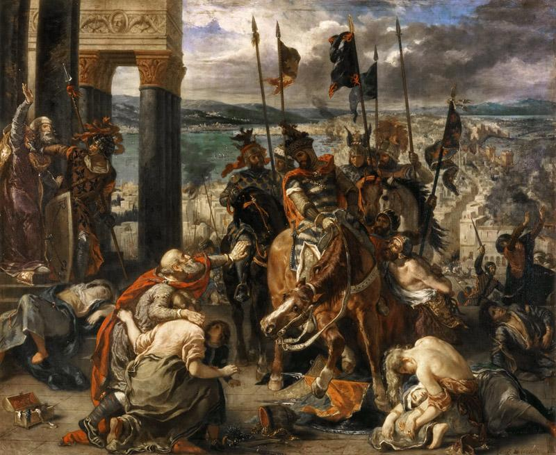 Eugene Delacroix -- Taking of Constantinople by the Crusaders