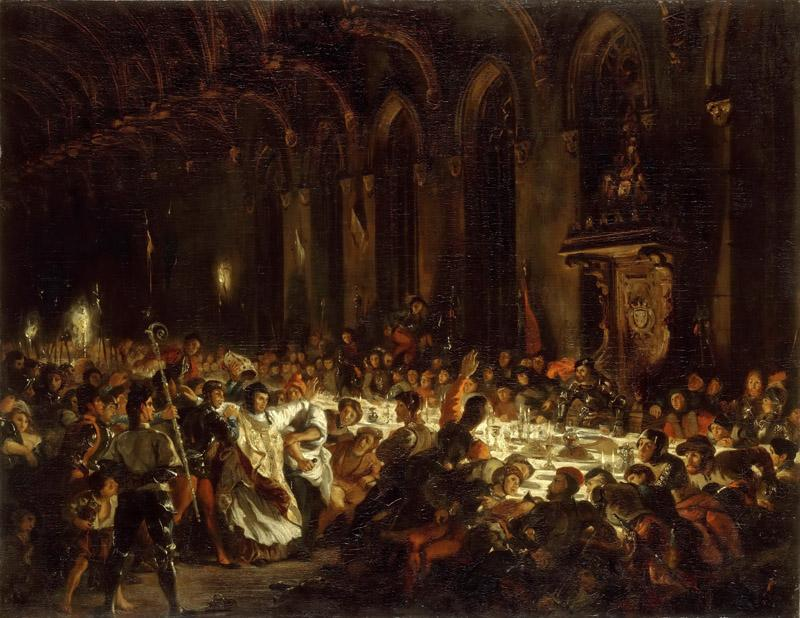 Eugene Delacroix -- The Assassination of the Bishop of Liege
