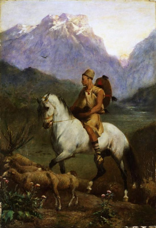 Eugene Fromentin, French, 1820-1876 -- Arabian Shepherd (Shepherd- High Plateau of Kabylia)