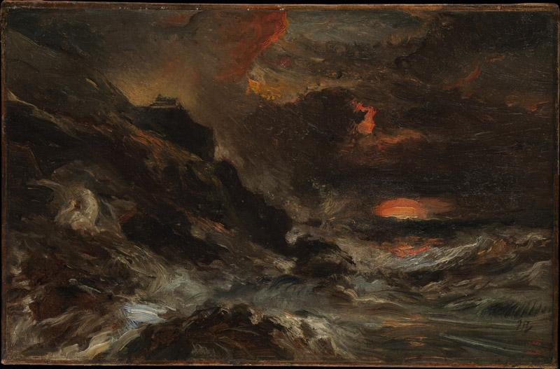 Eugene Isabey--A Storm off the Normandy Coast