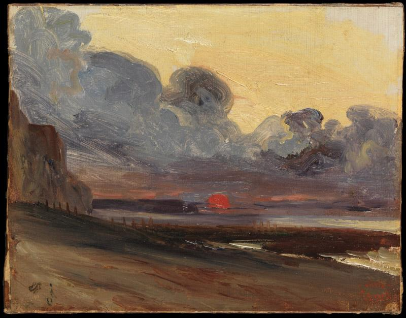 Eugene Isabey--Sunset on the Normandy Coast