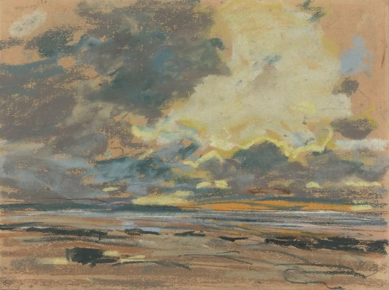 Eugene Louis Boudin -- Setting Sun, or Orange Sky
