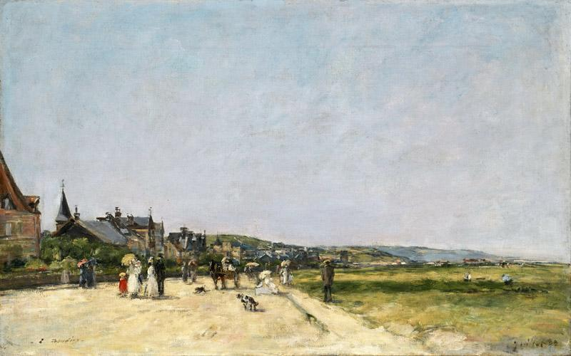 Eugene-Louis Boudin, French, 1824-1898 -- Deauville, the Terrace