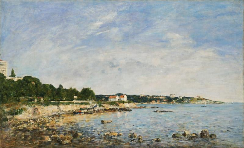 Eugene-Louis Boudin, French, 1824-1898 -- Le Cap, Antibes