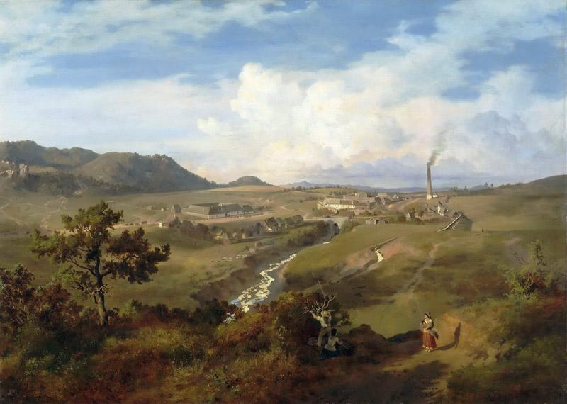 Eugenio Landesio -- View of a Valley