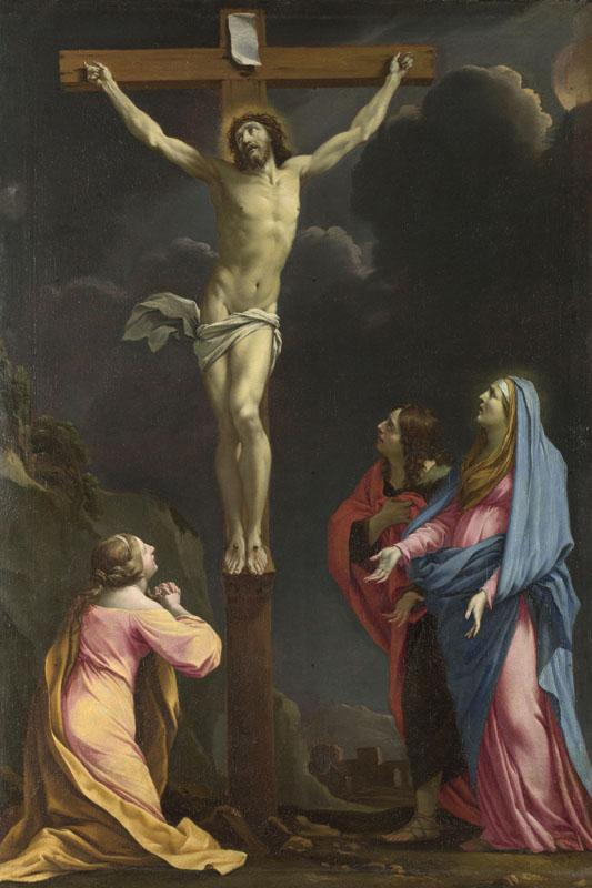 Eustache Le Sueur - Christ on the Cross with the Virgin and Saints
