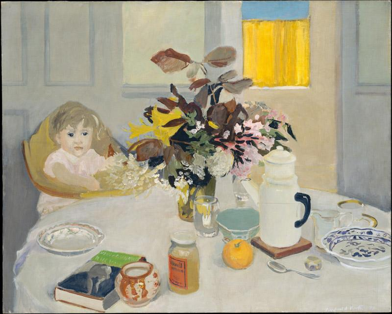 Fairfield Porter--Lizzie at the Table