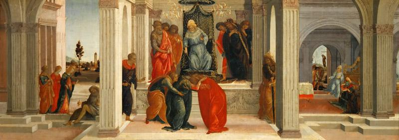 Filippino Lippi -- Three scenes from the life of Esther