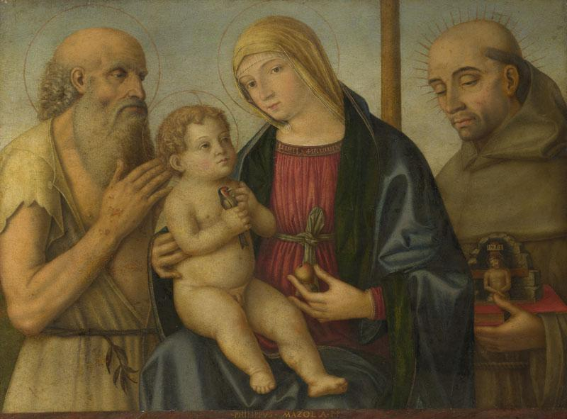 Filippo Mazzola - The Virgin and Child with Saints
