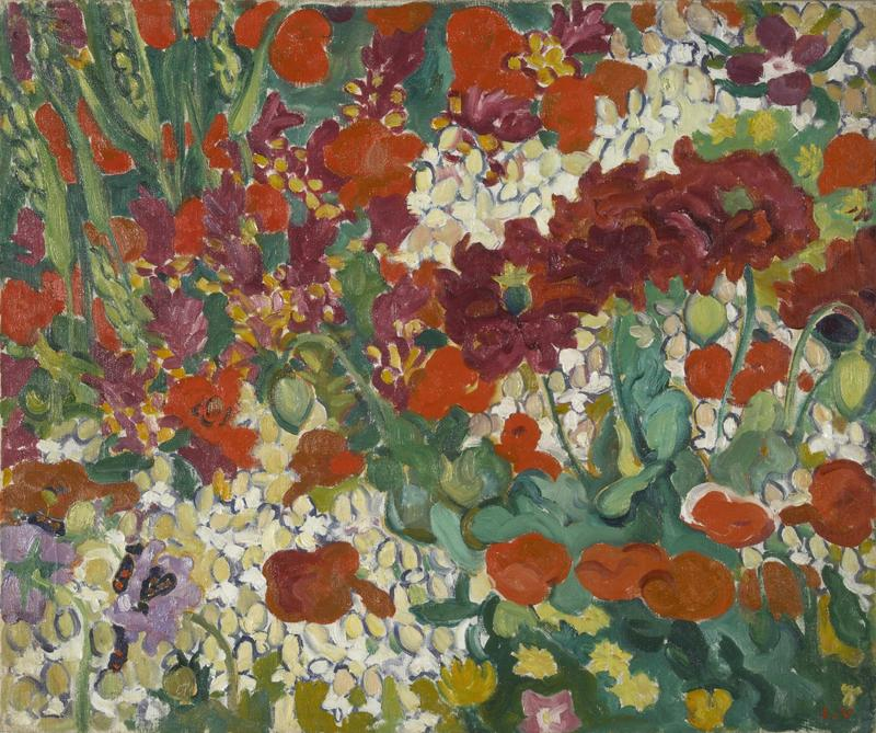 Flower-Bed with Papavers, 1910
