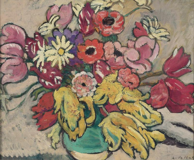 Flowers in a Green Jug, 1937