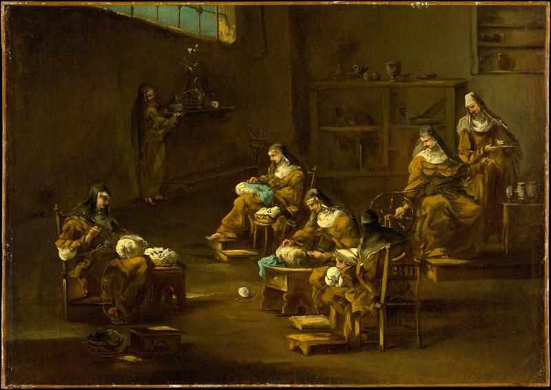 Follower of Alessandro Magnasco--Nuns at Work