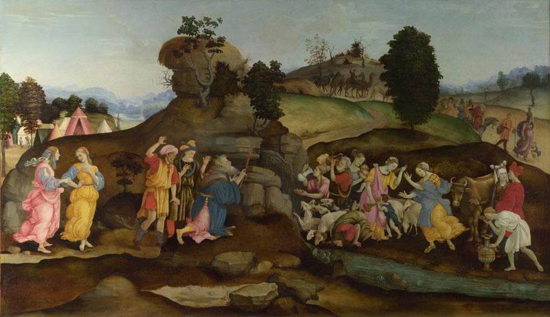 Follower of Filippino Lippi - Moses brings forth Water out of the Rock