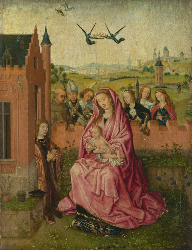 Follower of Lieven van Lathem - The Virgin and Child with Saints and Donor