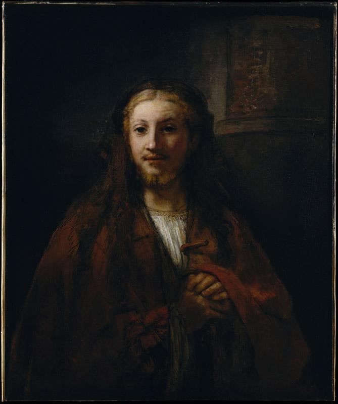 Follower of Rembrandt--Christ with a Staff