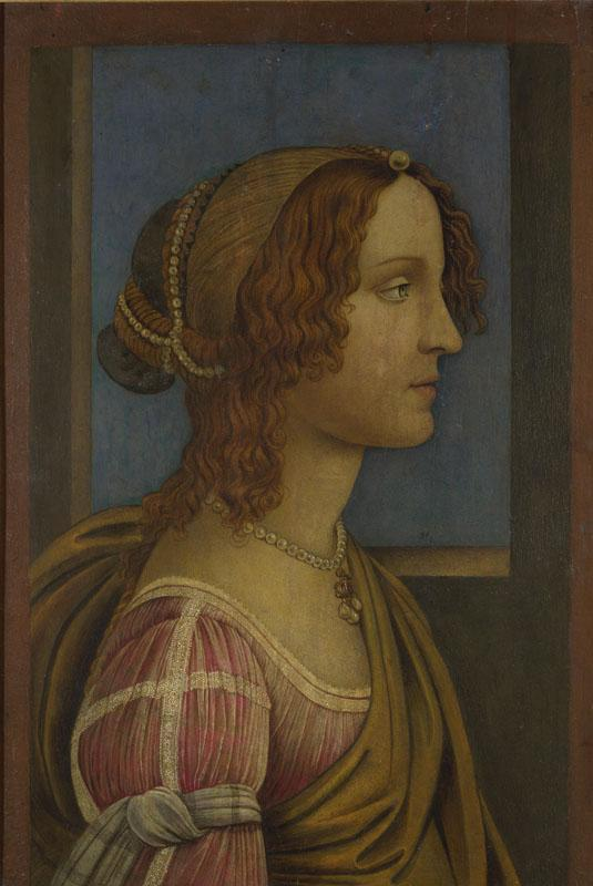 Follower of Sandro Botticelli - A Lady in Profile