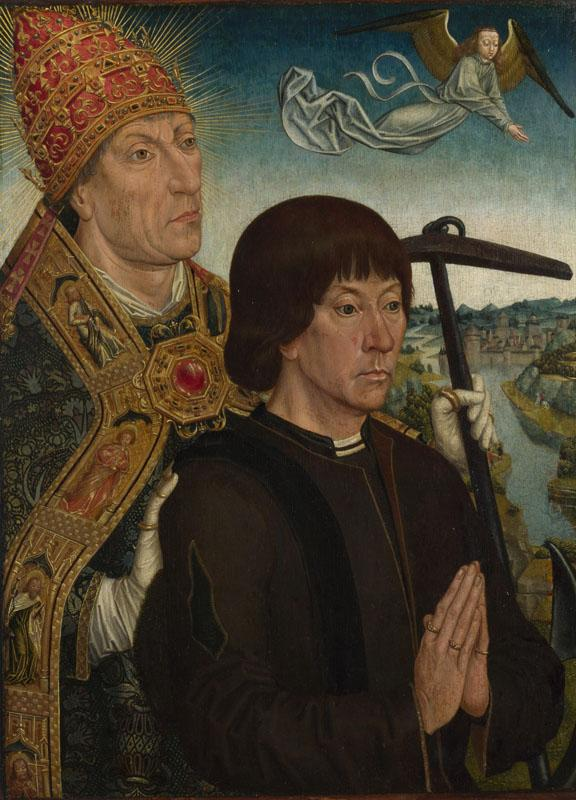 Follower of Simon Marmion - Saint Clement and a Donor