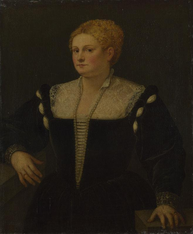 Follower of Titian - Portrait of a Woman (perhaps Pellegrina Morosini Capello)