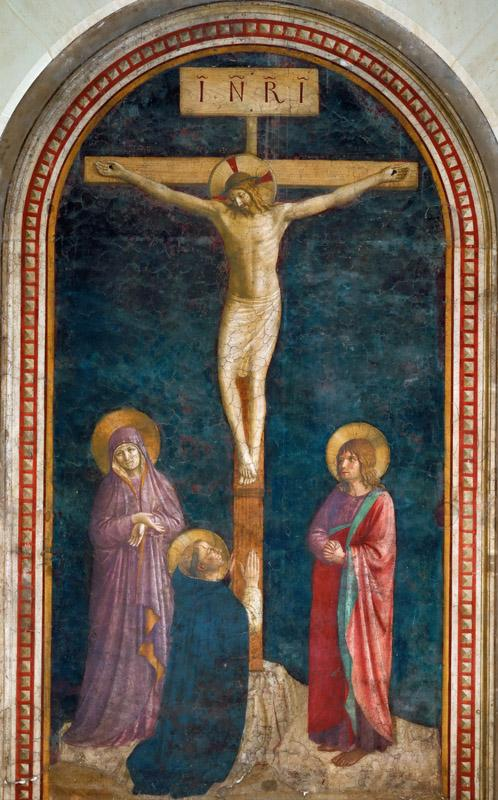 Fra Angelico (c. 1400-1455) -- Crucifixion with Saint Domenic